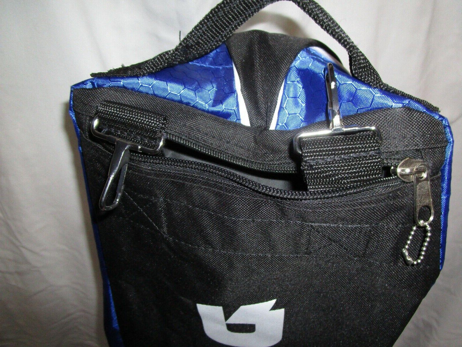 BASEBALL BAG, ROYAL BLUE & ON WHEELS, TAGS