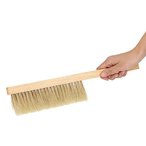 Fdit Natural Beekeeping Bristle Hair Tool Equipment Wooden Handle