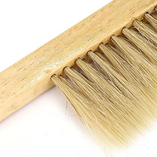 Fdit Natural Pig Bristle Hair Brush Comb Tool Equip Wooden