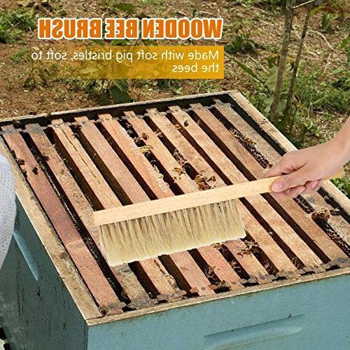 Bristle Hair Hive Brush Comb Beekeeper Beehive Tool Wooden Handle Beekeeping