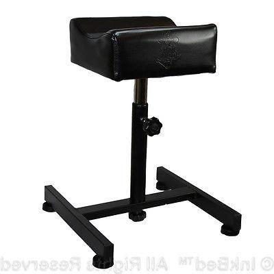 InkBed Black Adjustable All Purpose Leg Arm Rest Stand Tatto