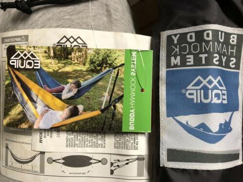 buddy tandem hammock system new
