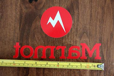 MARMOT Clothing and Equipment STICKER Decal DIE CUT RED NEW