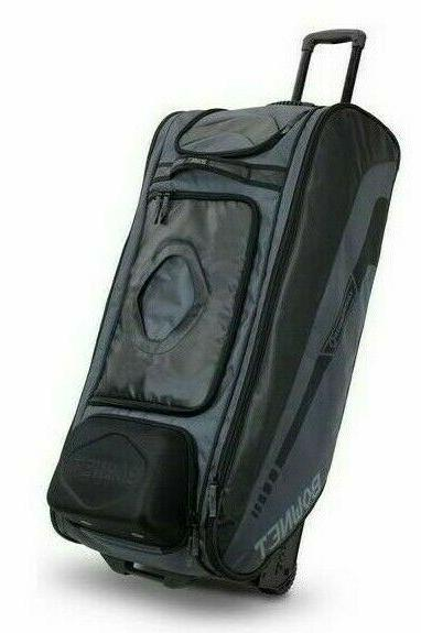Bownet Commander Rolling Gear Black Bat Bag Baseball/Softbal