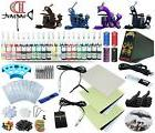 Complete Tattoo Kit 4 Machine Guns Set Equipment Power Suppl