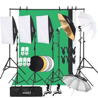 Digital Photography Kit 3 Softbox Equipment w/stand