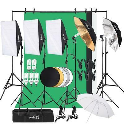 digital photography lighting kit 3 backdrop umbrella