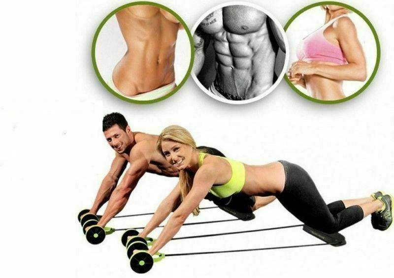Double Wheel Gym Equipment