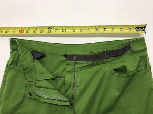 Black Men's Green Pockets Cinchable Hem