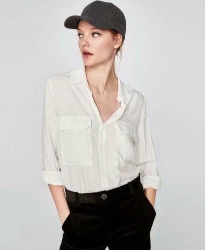 Equipment Signature Blouse Shirt Bright White Black 2020