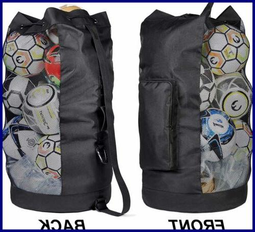 extra heavy duty ball mesh bag black