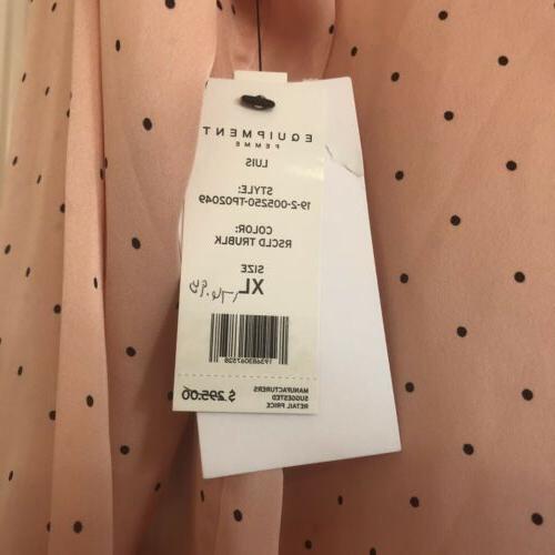 EQUIPMENT 'Luis' Tie Polka Dot-Print Rose /