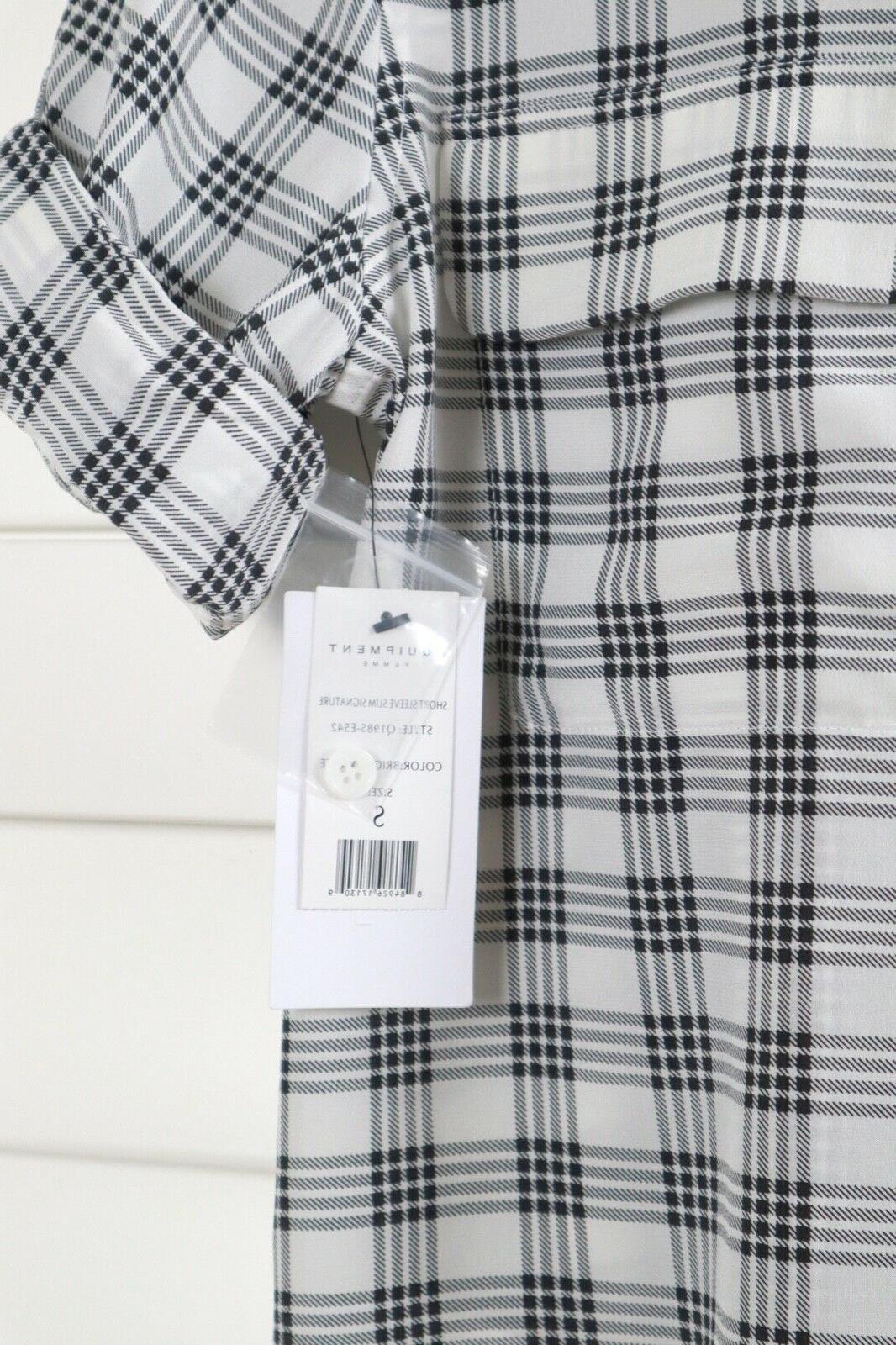 EQUIPMENT Slim Plaid Shirt Top Size Small