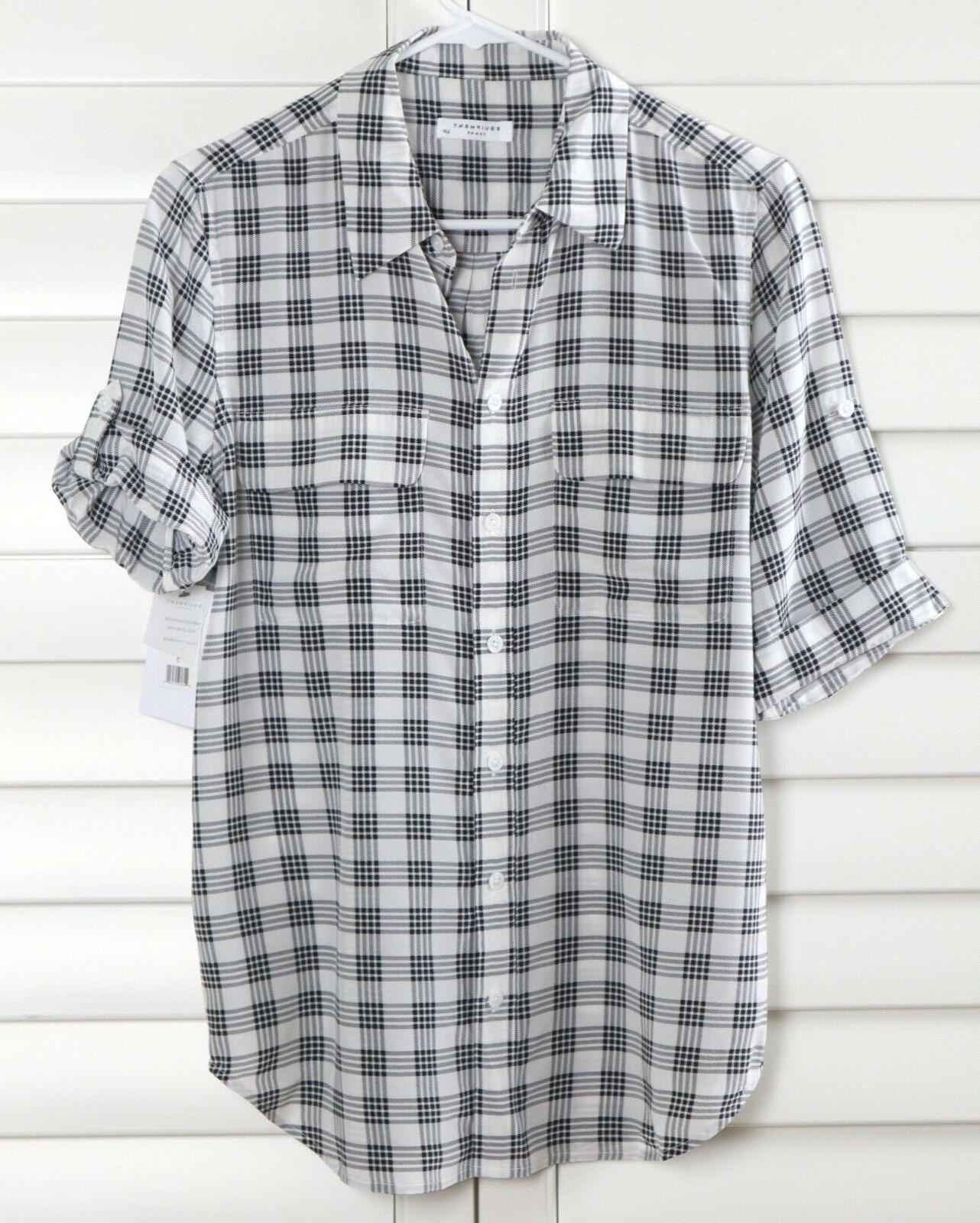 EQUIPMENT Femme Slim Signature Plaid Shirt Top Small