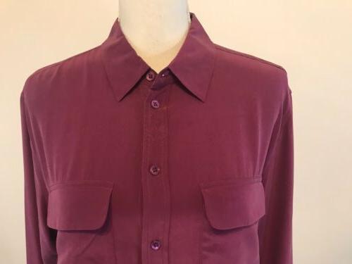 Equipment Femme 100% Silk Button Top NWT
