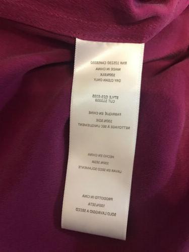 100% Blouse Button Down Shirt NWT