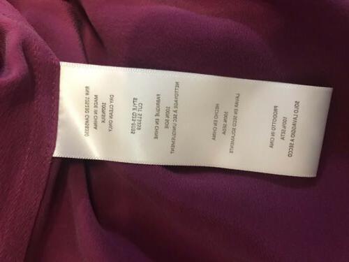 Equipment 100% Silk Blouse Button NWT