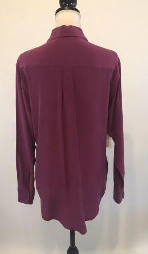 Equipment Femme Signature 100% Silk Blouse Pink Button Down NWT