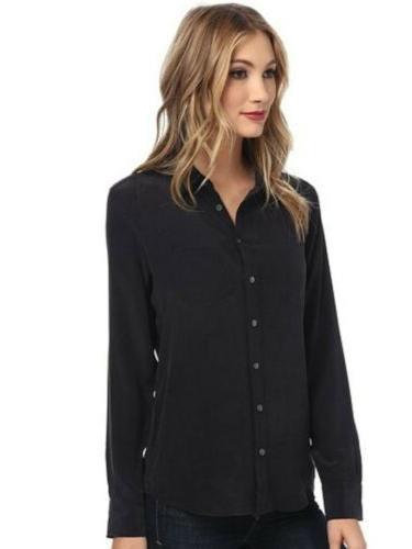femme silk blouse sz m