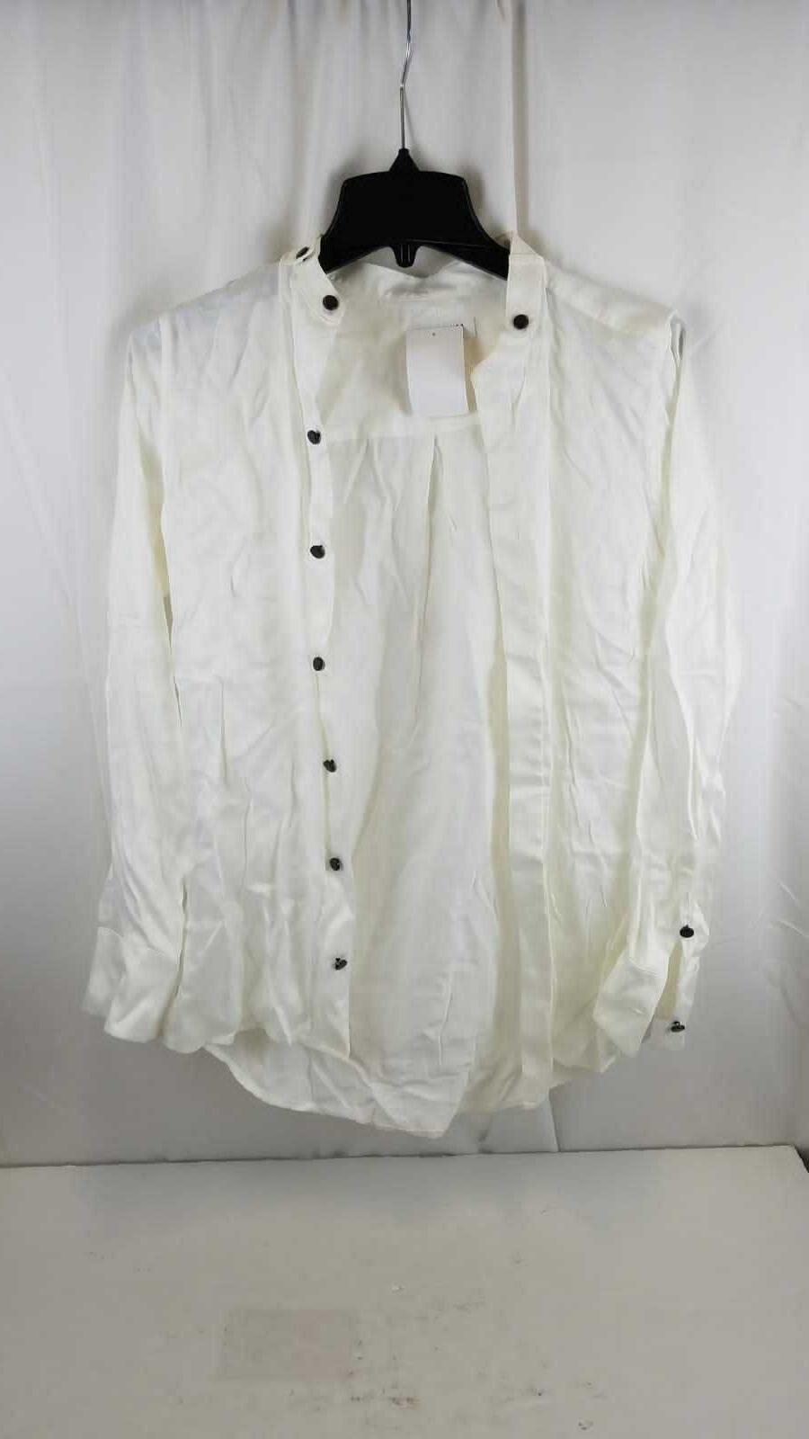 femme silk long sleeve button up shirt
