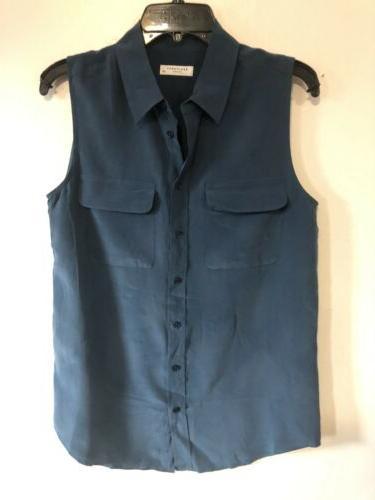 femme sleeveless slim signature shirt size s
