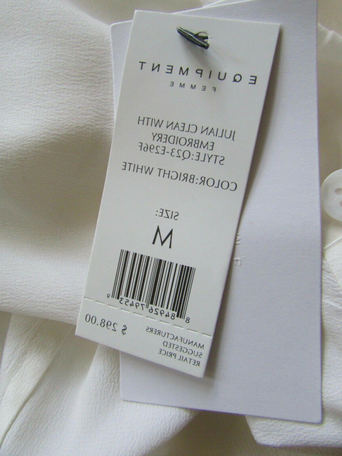 EQUIPMENT White Embroidery Silk Sz