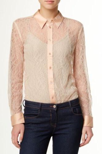 femme women s nude reese lace blouse