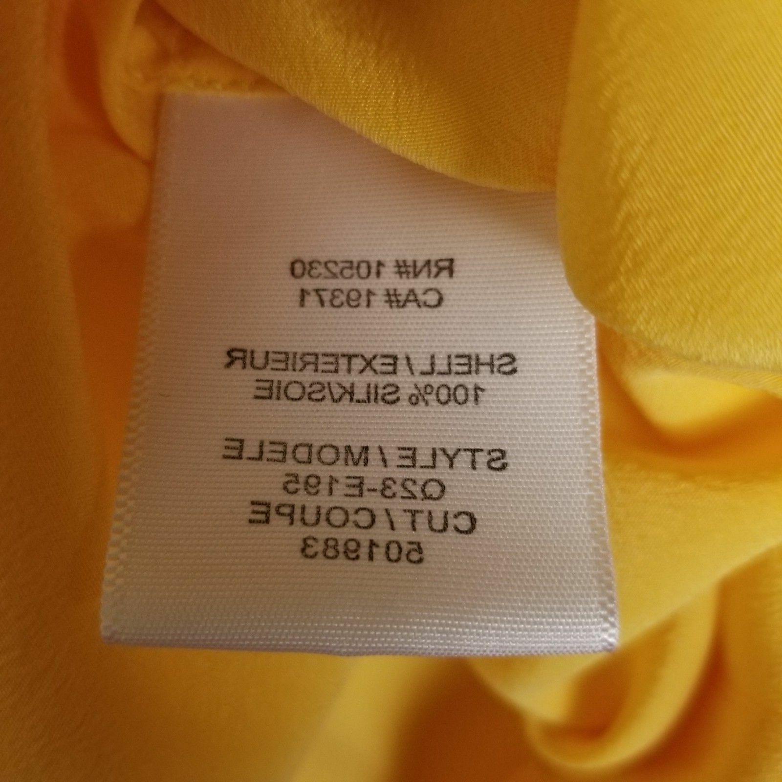 Equipment Femme Yellow Silk Blouse Top