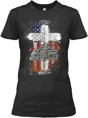 Flag Heavy Equipment Operator S Mens By American Gildan Wome