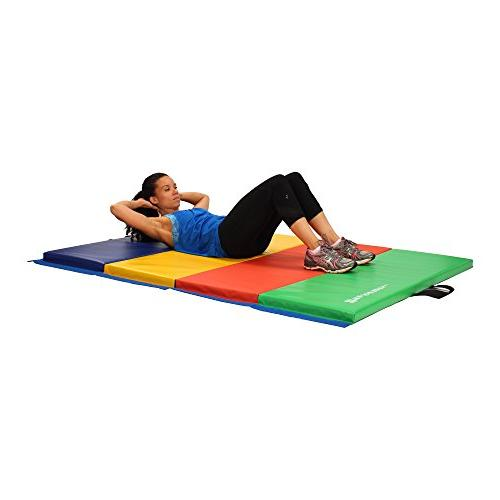 We Sell Mats Folding Exercise Gym Mats, 4x6, Multicolor