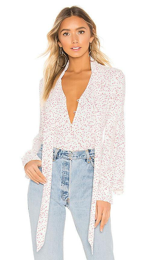 Equipment Printed Top White/Scarlet
