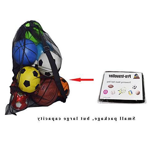 Ball Bag,Drawstring Storage Soccer, Swimming Gears Adjustable Shoulder and Kids
