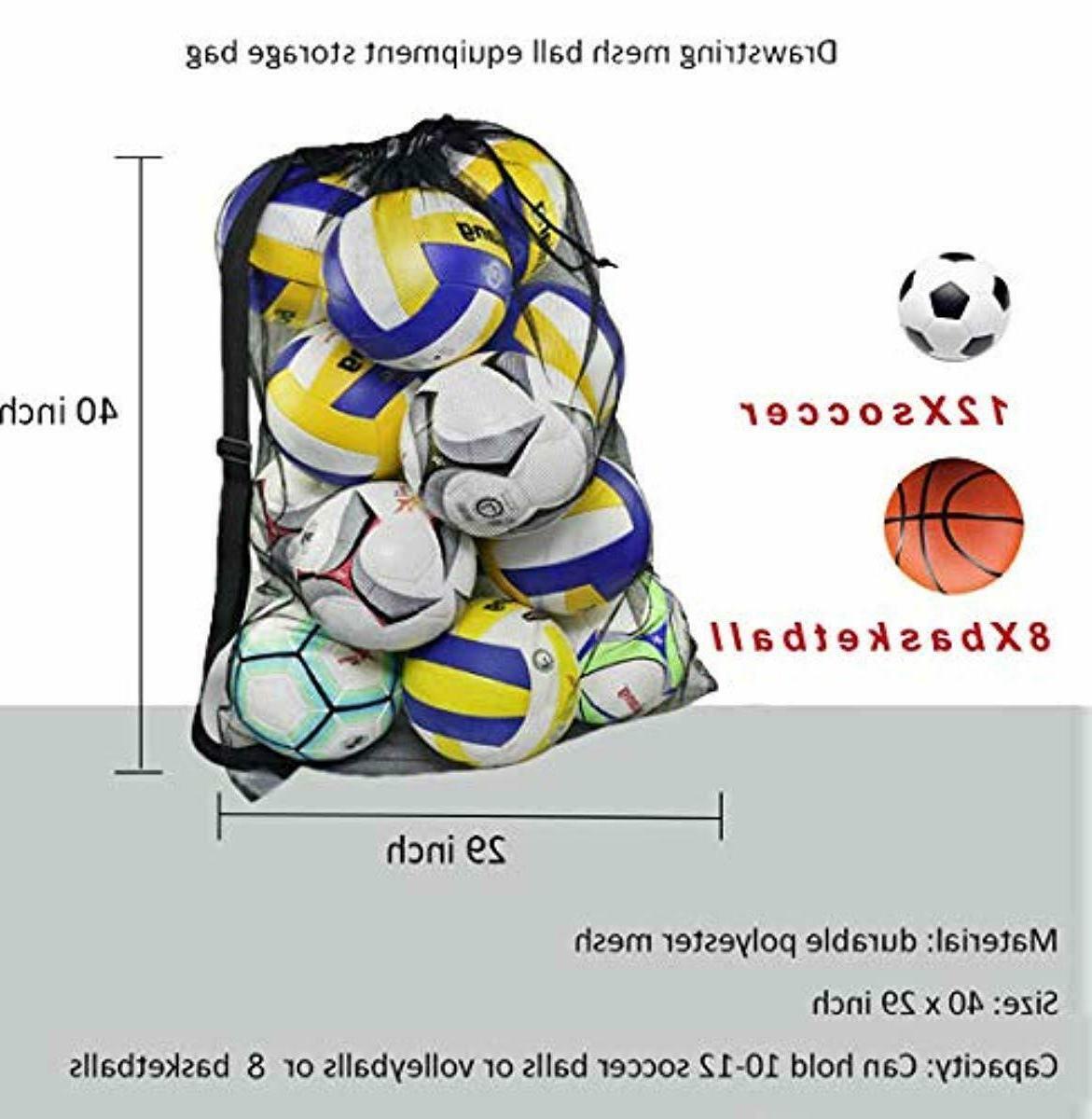 """HEAVY MESH EQUIPMENT BAG. SOCCER. FOOTBALL. SIZE 29.5"""" 4"""