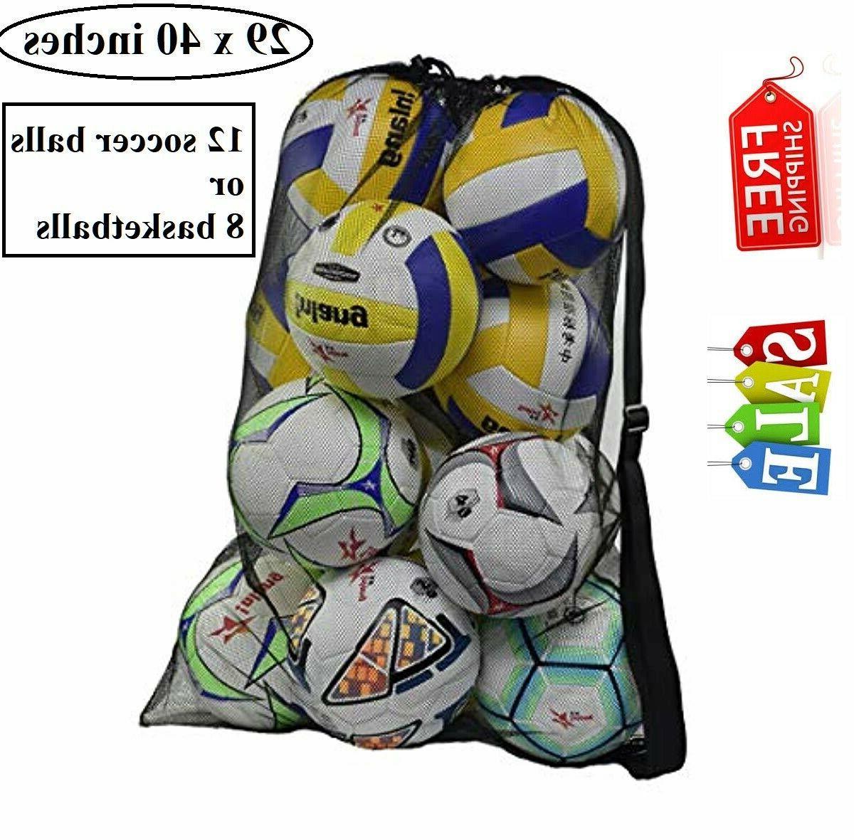 heavy duty mesh ball equipment bag soccer