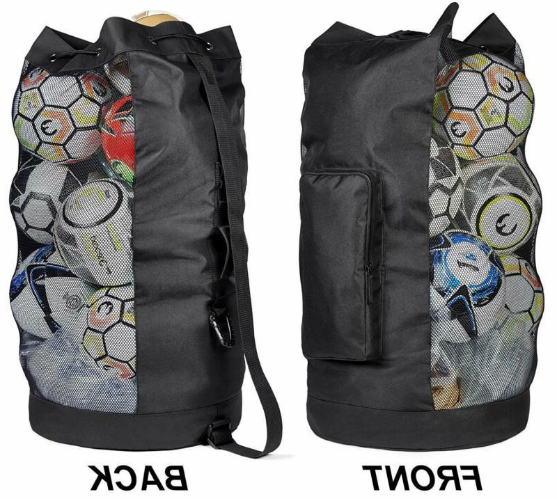 Fitdom Heavy Duty XL Soccer Mesh Equipment Ball Bag w/Adjust