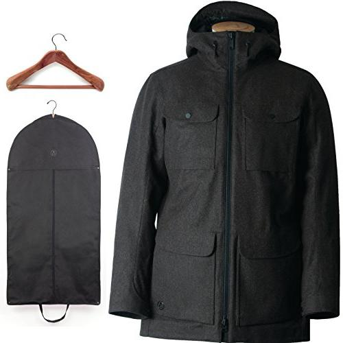 insulated tech wool parka night