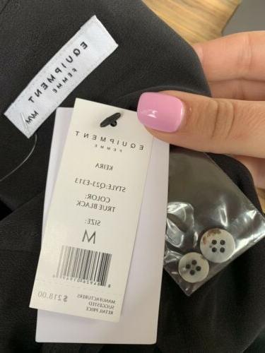 Equipment True Silk Button Blouse Top M Medium BEST PRICE
