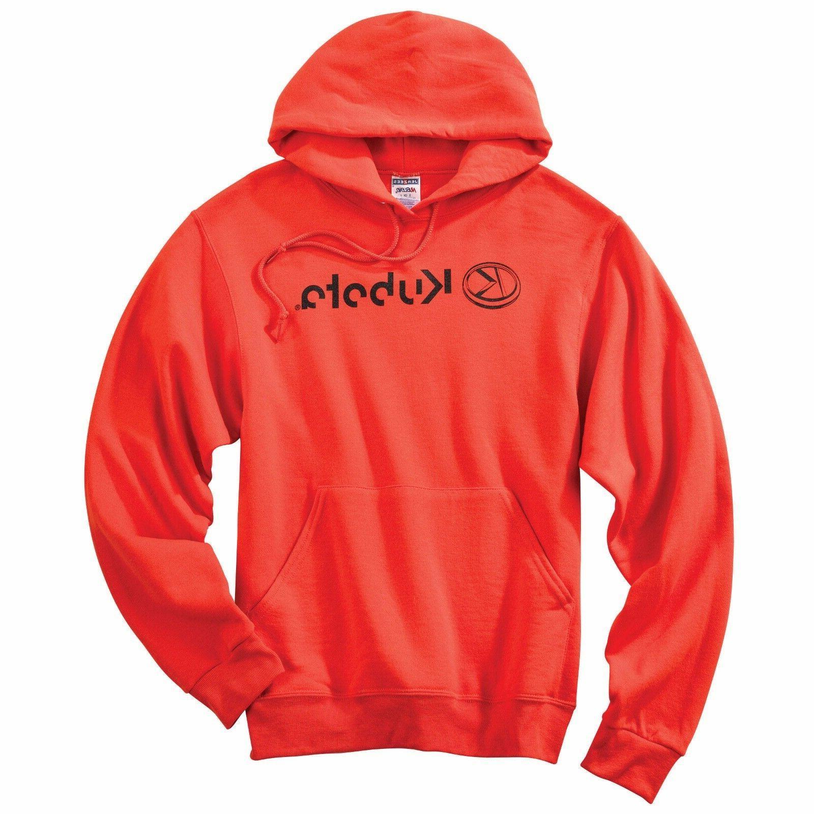 KUBOTA EQUIPMENT *ORANGE* Trademark Logo HOODIE SWEATSHIRT *