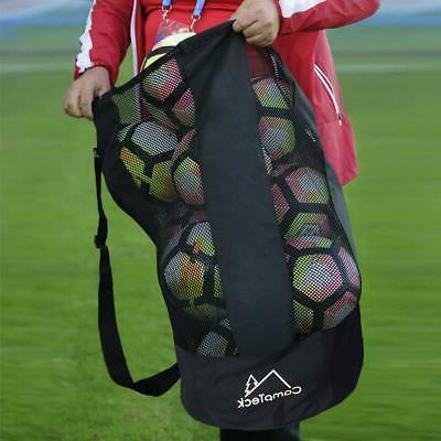 Large Soccer Bag Net Mesh Duffle Holder Duffel