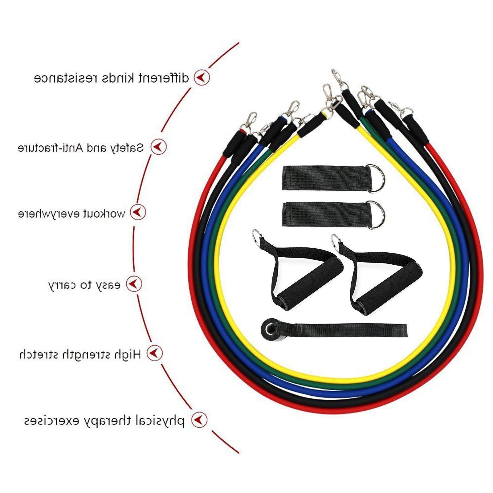 Latex Elastic Resistance Pilates Tube Gym Yoga Fitness