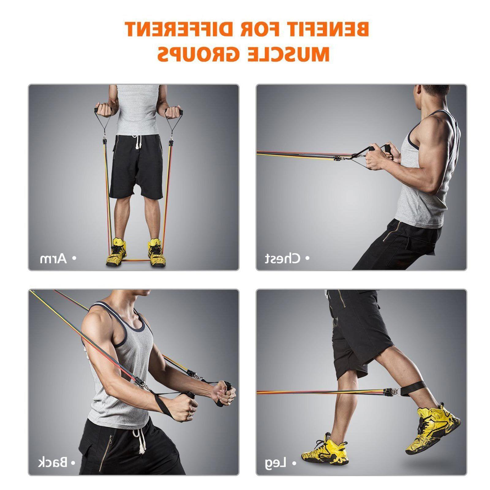 Latex Elastic Resistance Band Pilates Pull Gym