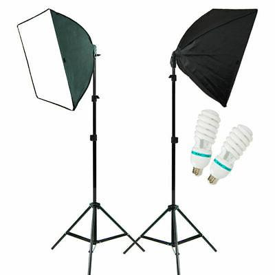 2PC Lighting Softbox Stand Photography Photo Equipment Soft