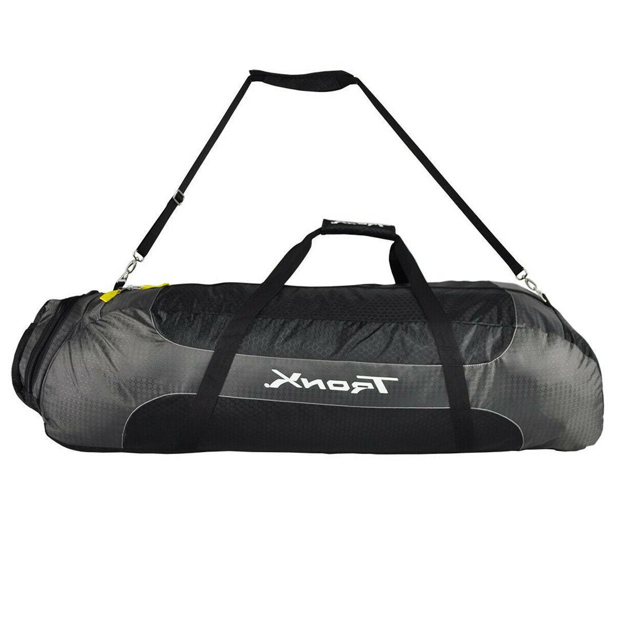 lx prox lacrosse equipment bag black gray