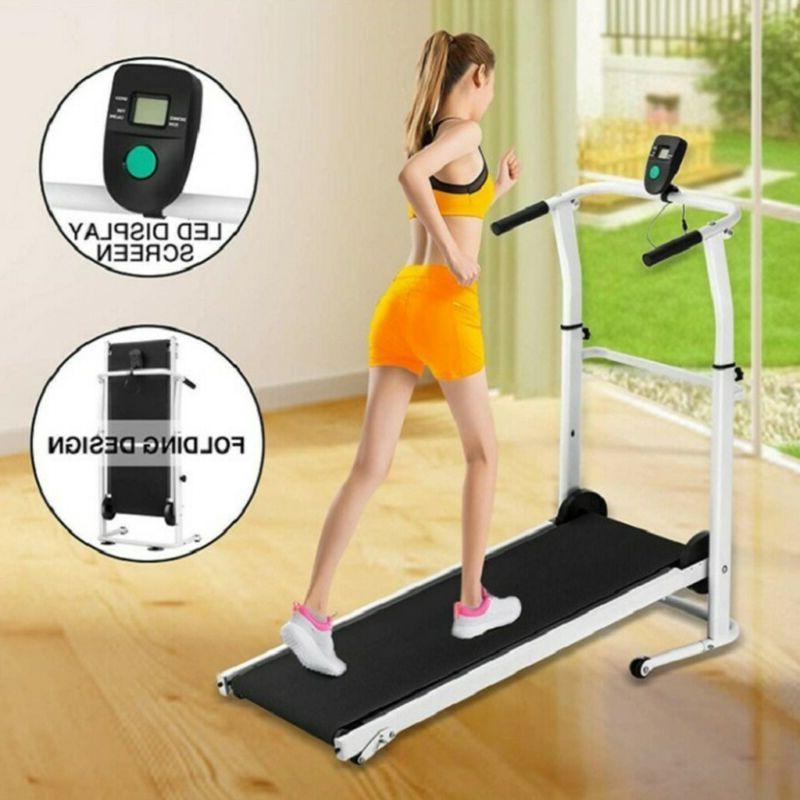 manual treadmill running cardio equipment home fitness