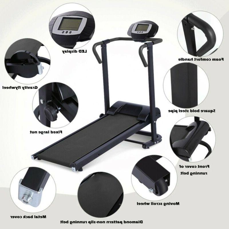 Mechanical Fitness Folding Running Machine Home