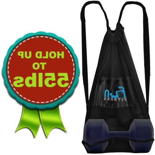 Mesh Bag Toy Black - Large Backpack for Basketball Swim