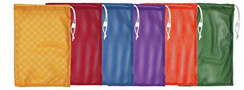 """Champion Sports Mesh Equipment Bags, 12"""" x 18"""", Assorted Col"""