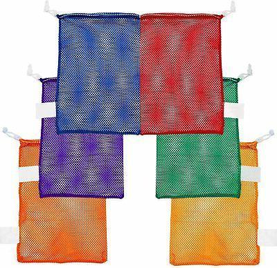 mesh sports equipment bag multipurpose nylon drawstring