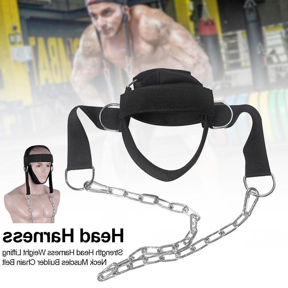 Neck Muscles Builder Chain <font><b>Equipment</b></font> D Shackle Lifting Adjustable Strength Harness