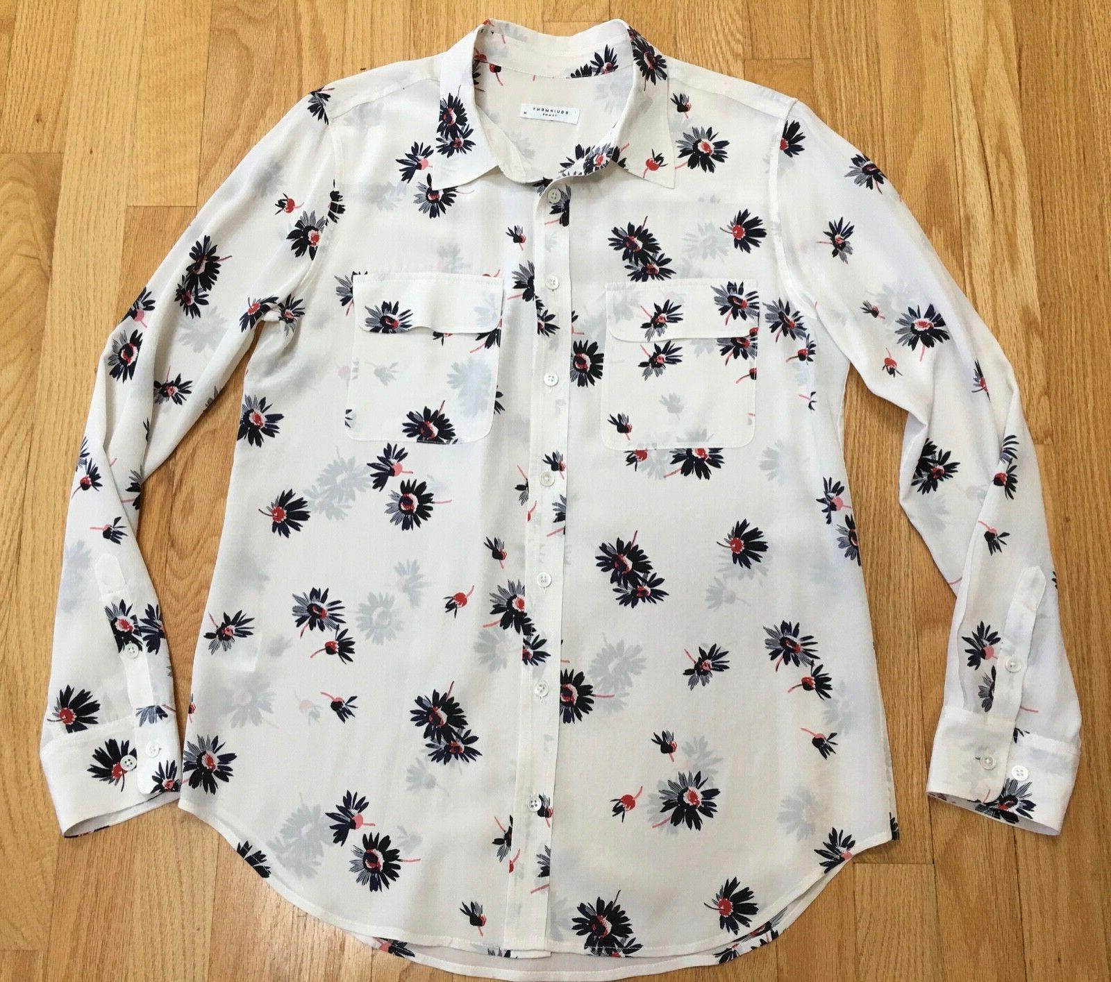 NEW Equipment silk shirt top M $268
